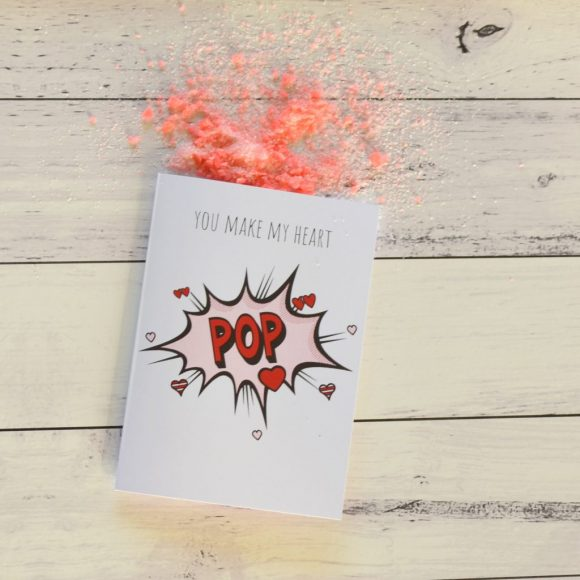Popping Candy Valentine's Day Card