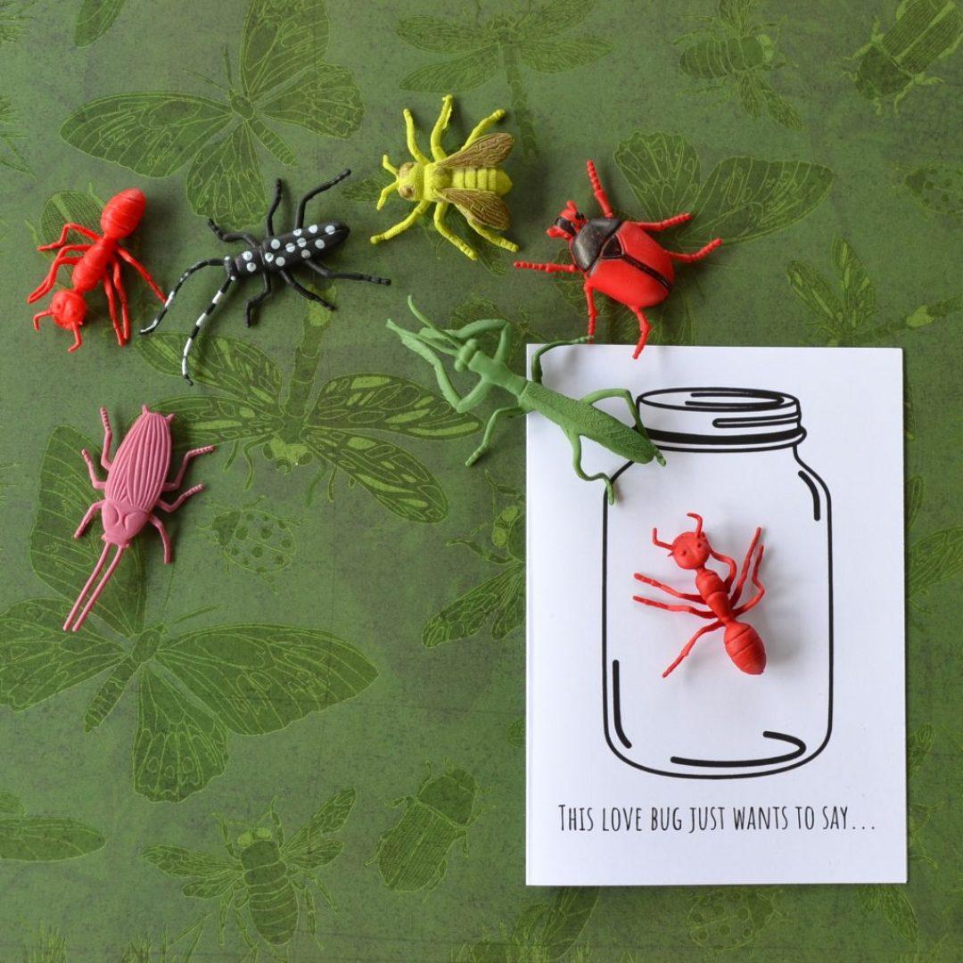 Lovebug Valentine's Day Card