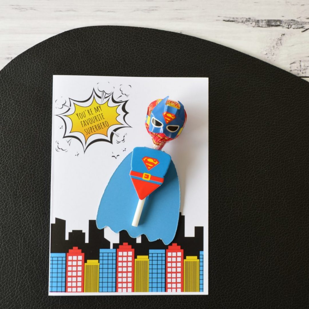Superboy Valentine's Day Card
